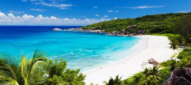 Seychely, pláž Grand Anse Beach, ostrov La Digue