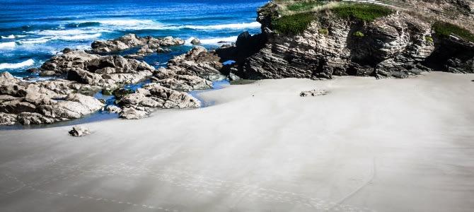 Playa de las Catedrales, Ribadeo, Španělsko
