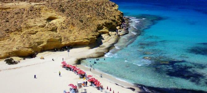 Mersa Matrouh, pláž Agiba, Egypt