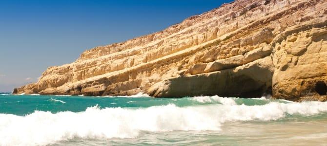 Kréta, pláž Matala, Řecko