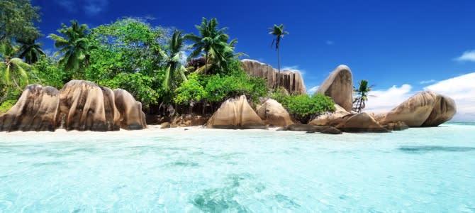 Seychely, Anse Source d'Argent, ostrov La Digue
