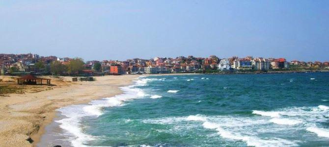 Sozopol, pláž Harmanite, Bulharsko