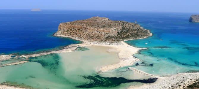 Kréta, pláž Balos Lagoon, Řecko