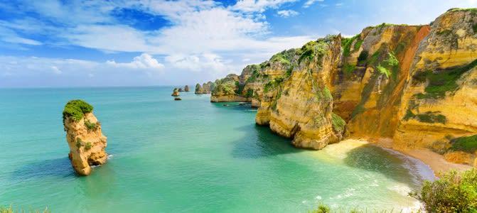 Sagres, pláž Algarve, Portugalsko