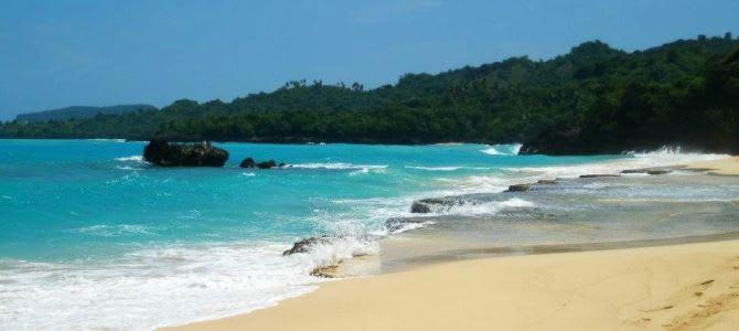 Pláž Rincon, poloostrov Samaná, Dominikánská republika