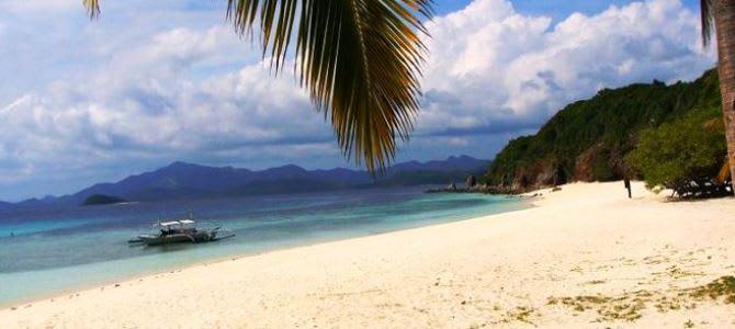 Coron, pláž Banul, Filipíny