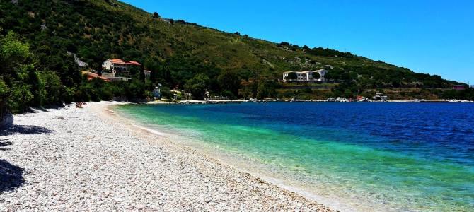 Korfu, pláž Imerolia, Řecko