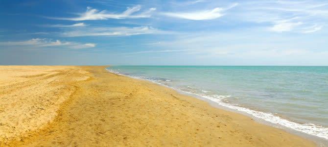 Bibione, pláž Bibione, Itálie