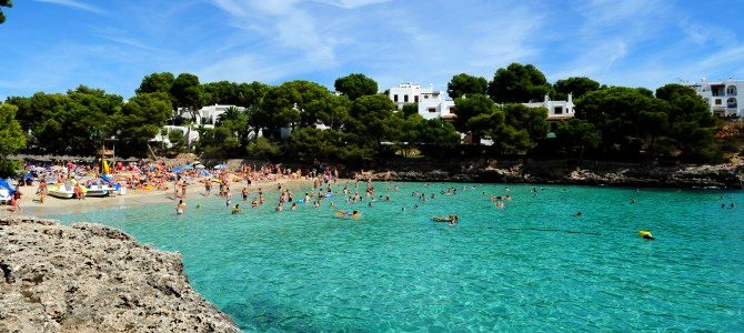 Mallorca, pláž Cala Mondragó , Španělsko