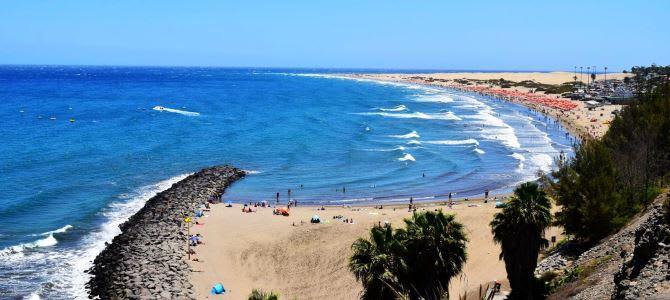 Pláž Maspalomas, ostrov Gran Canaria, Kanárské ostrovy