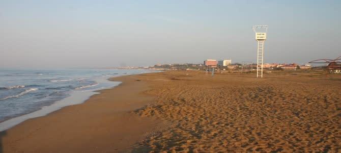 Side, pláž Golden Star, Turecko