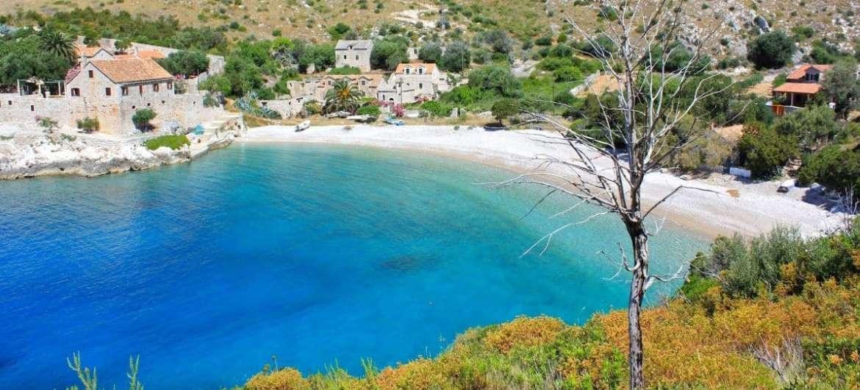 Ostrov Hvar, pláž Dubovica, Chorvatsko