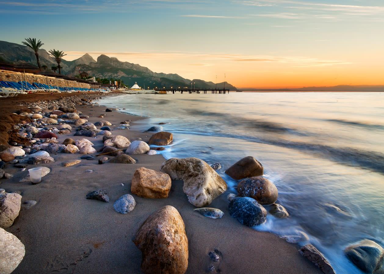 Pláž v Turecku
