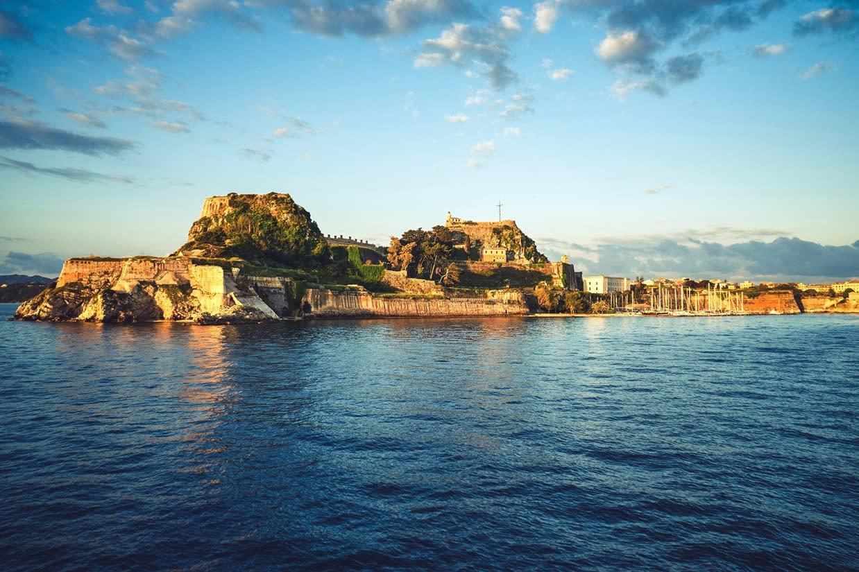 starý přístav na Korfu