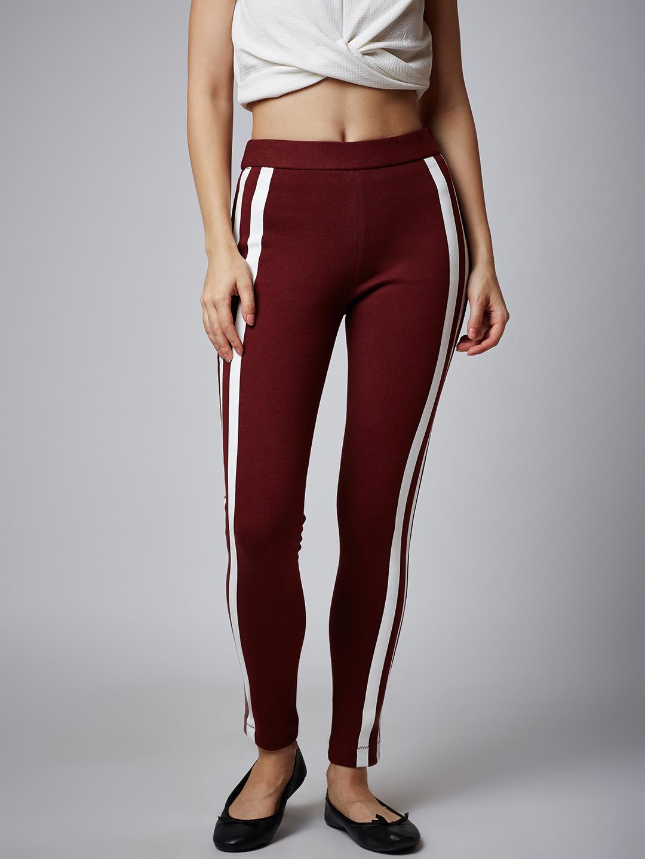 f1bab548067f8 Burgundy Slim Jeggings – Online Shop For Women Skirts Jeans