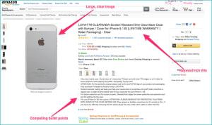 Пример хорошего листинга на Amazon