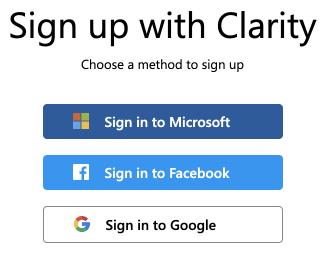 clarityサインアップ