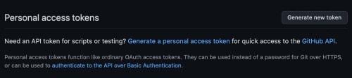 Git Generate new token