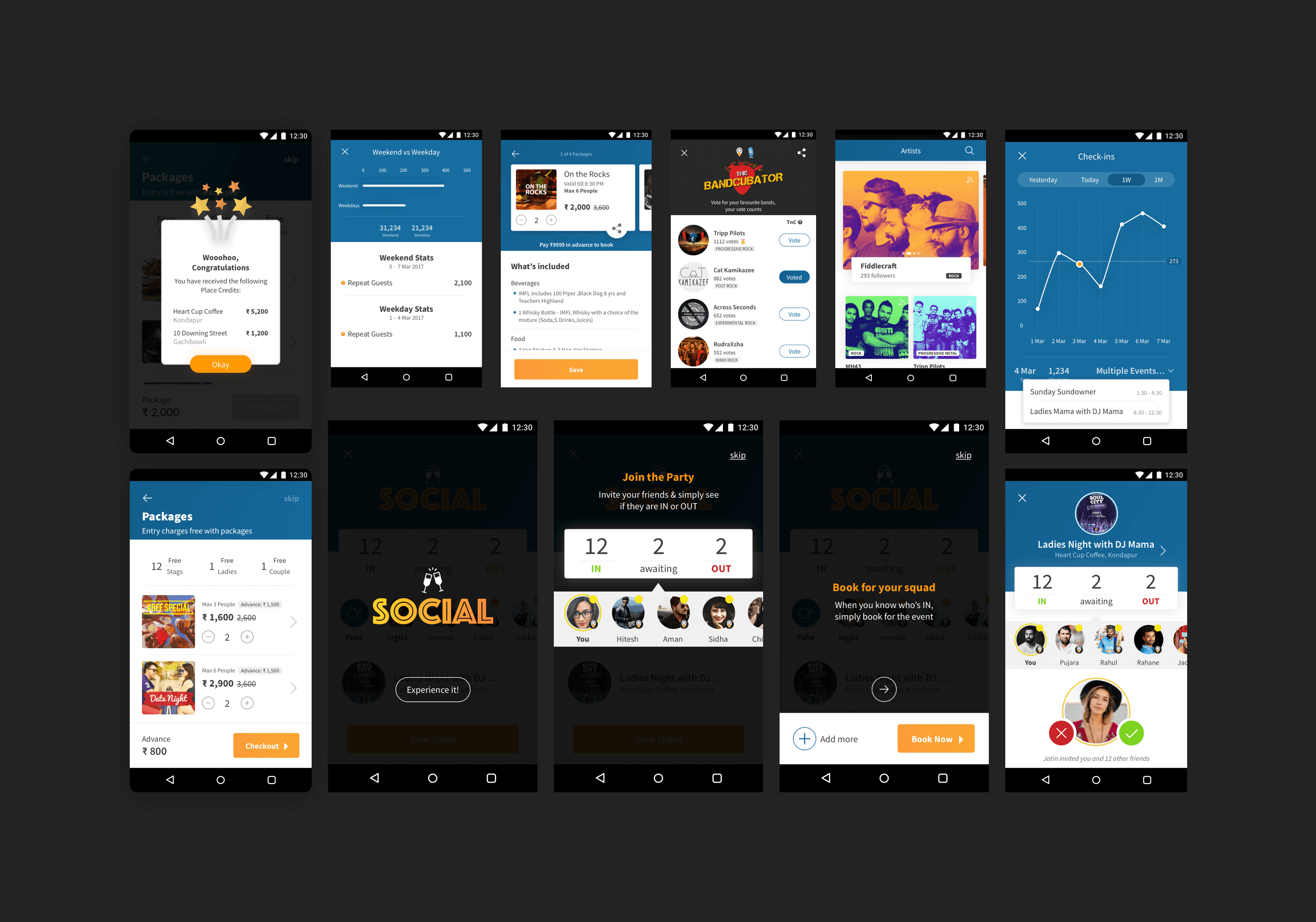 Brisky is a recommendation platform that connects people with local experts for personalized recommendations. It also provides real-time information about what is happening at pubs around you. Brisky App - User Interface Design