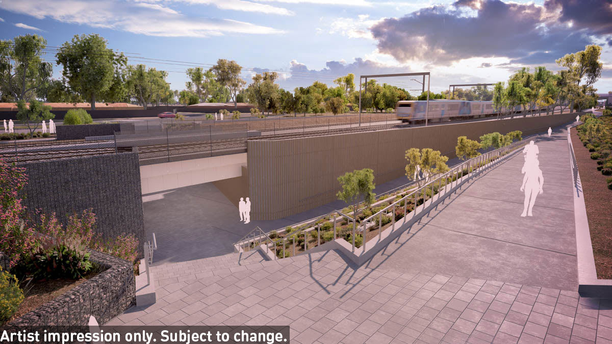 Level crossing removal design unveiled for Werribee: Authority selects elevated solution for Mernda line through Preston