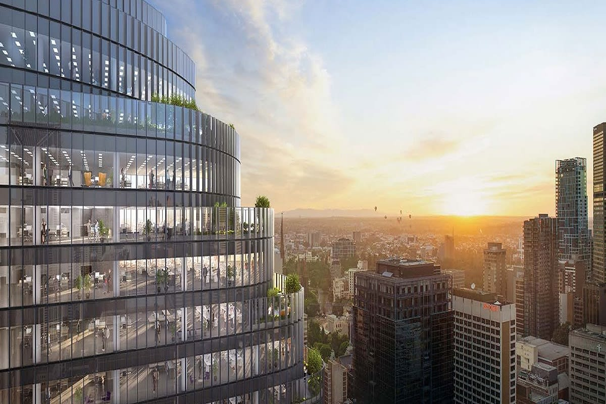 Rendering of upper floors of Wesley Place exterior. Image Credit: Cox Architecture