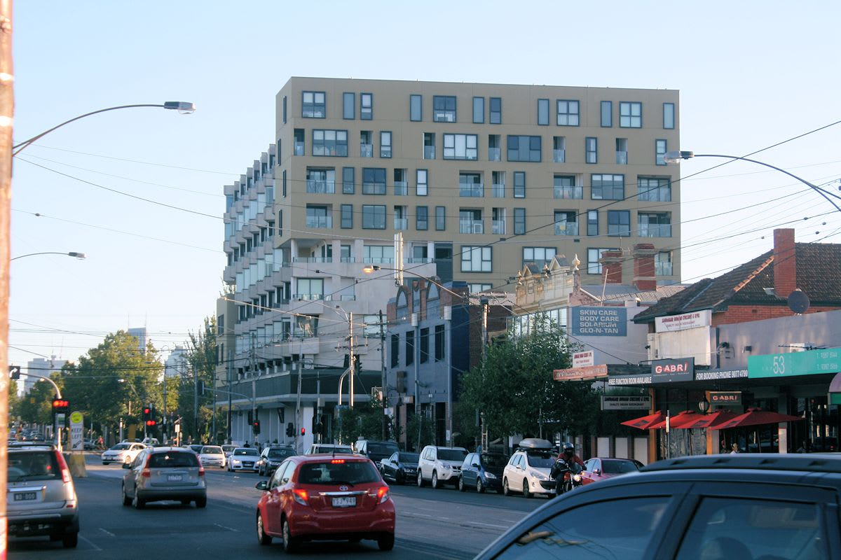 Old and new collide on Lygon Street