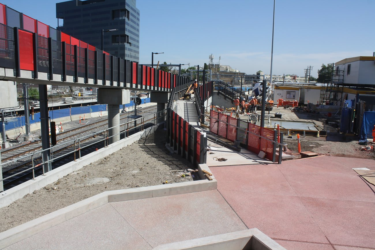 Footscray Station update - Where's the doughnuts?