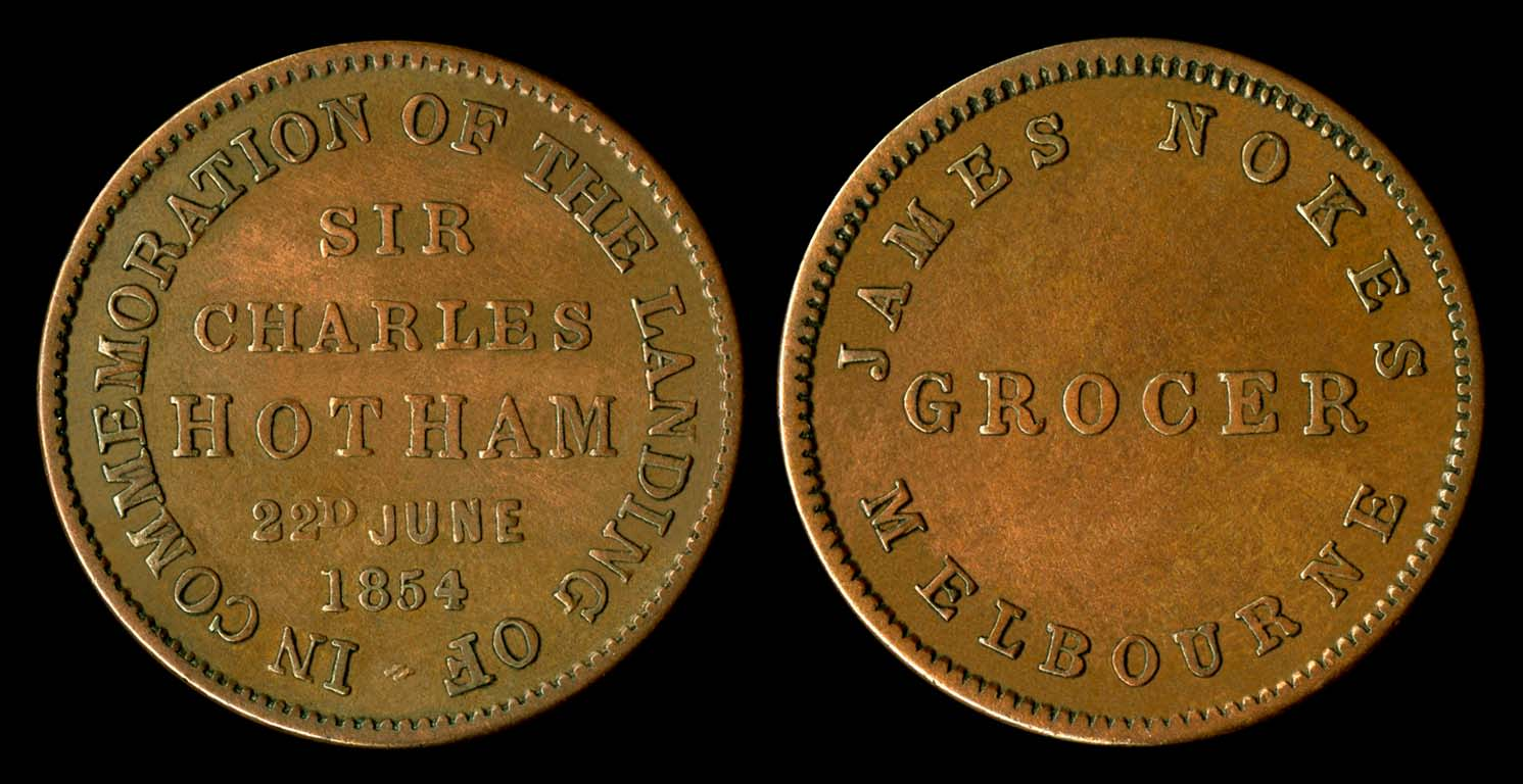 Melbourne Traders Tokens - History in your palm