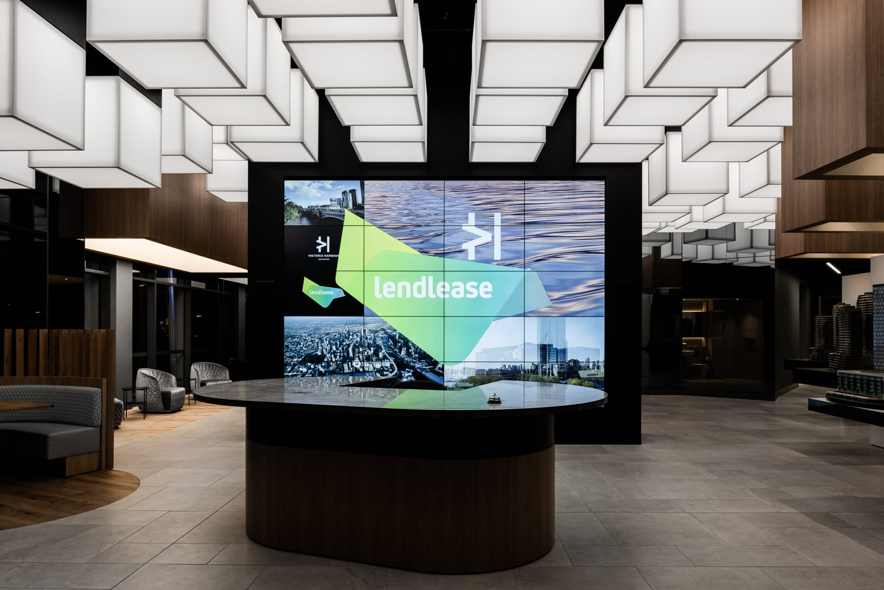 Technē designs an immersive experience for the Victoria Harbour Sales and Leasing Centre