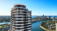 Inside the two-bedroom apartments in Surfers Paradise on offer at Chevron One
