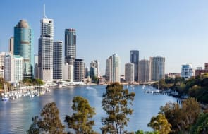 What happened to apartment values in Brisbane over July?