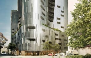 Hayball's 'island' tower emerges above a wave of South Melbourne development