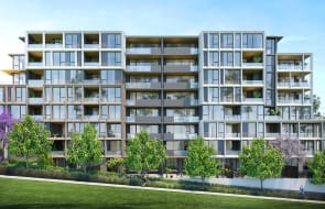 Three-bedroom apartments at the brand-new Chapman Gardens development in Sydney's Castle Hill