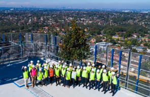 Cbus Property top out Epping apartment development The Langston
