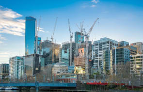 Mixed-use projects see crane levels rise across Melbourne