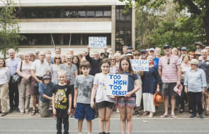 Residents say building 'too high'  for Constitution Avenue