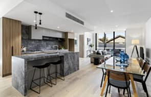 Inside the completed apartments at Brass Edition in Moonee Ponds