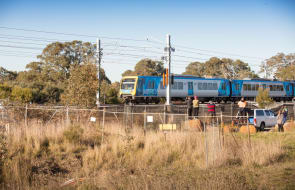 Test trains start rolling on the new rails to Mernda