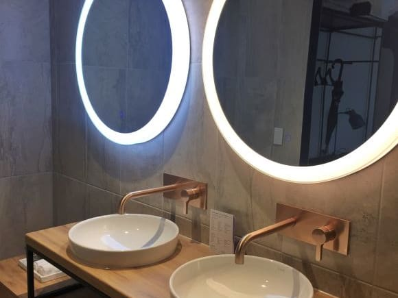 Glowing mirrors