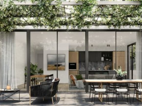 One of Lumiere's expansive outdoor courtyards. Image credit: Lowe Group