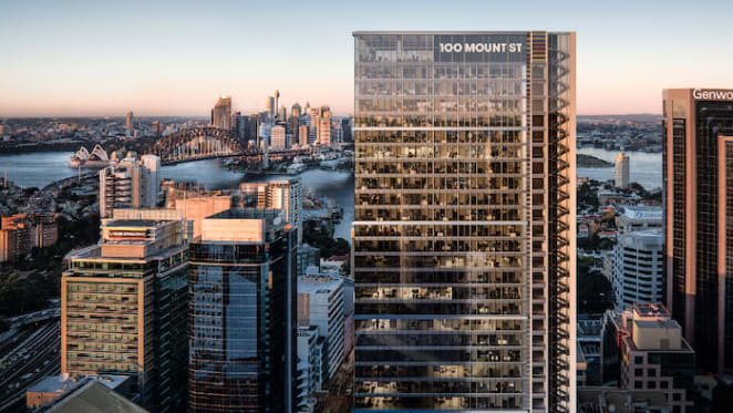 North Sydney's tallest commercial building has topped out