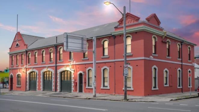 That's not a box! Entrepreneur Sascha Griffin selling converted fire station trophy home