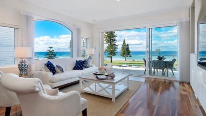 Rare standalone beachfront Manly trophy home listed