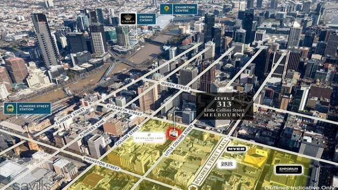 Savills are marketing a fully leased Little Collins Street office