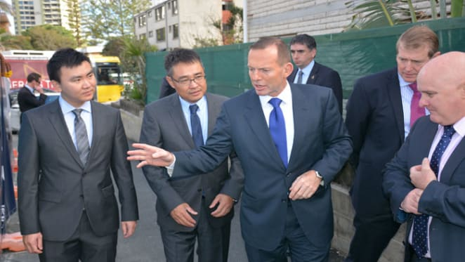Surfers Paradise crystal inspired Jewel project gets Tony Abbott visit