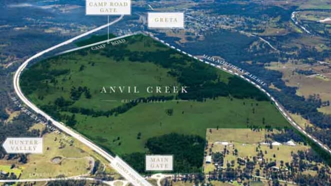 423ha Hunter Valley Anvil Creek holding listed as shovel-ready