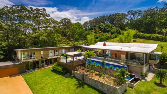 Eureka's six-star Ad Astra trophy home listed in Byron Bay hinterland