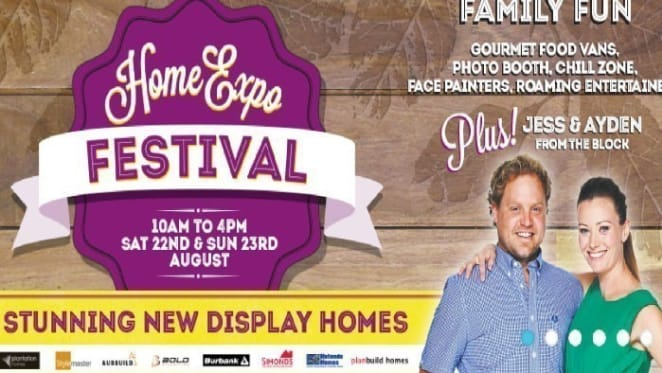 Jess, Aiden from The Block set for Ipswich Valley Providence HomeExpo