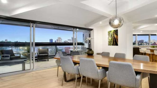 The Block's Andrew and Whitney South Yarra apartment - complete with coffin shaped dining table