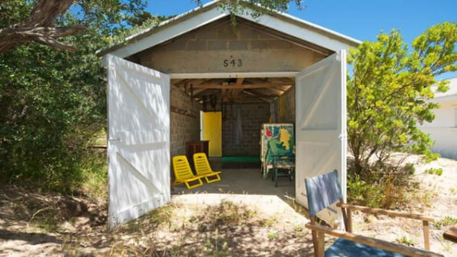 Two Portsea beach boxes listed for sale